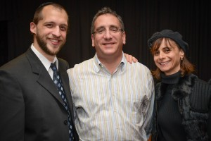 Rabbi Gavriel Friedman and Kevin and Amy Lefcoe