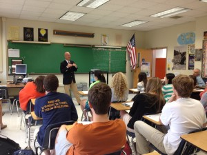 Amos Guiora visits Maury High School