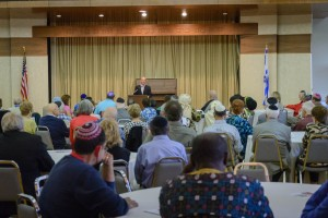 More than 150 people attended the event at Temple Israel.