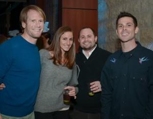 Darren and Rebecca Dorfman, Ross Kantor, and Todd Feldman.