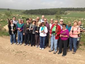 Congregation Beth El's Israel trip participants.