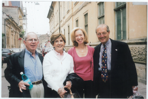 Alfred (Buzzy) Schulwolf, Marcia Hofheimer and Betsy and Ed Karotkin in Romania in 2004.
