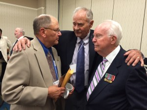 Chaplain Jim Fedor, Bill Jucksch and Earl Flanagan.