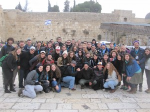 In front of the Western Wall.