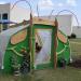 Caterpillar hoop house at Sandler Family Campus.