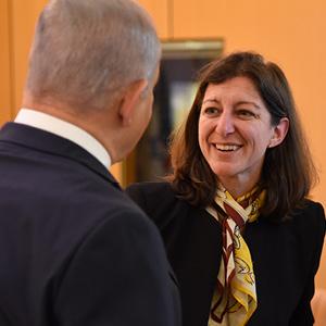 Elaine Luria with Prime Minister Benjamin Netanyahu.