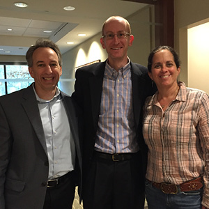 Joel Nied, Todd Young, AIPAC Southeast Regional Synagogue Initiative director, and Amy Levy.