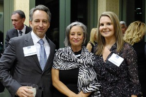 Event co-chair Joel Nied; Cookie Blitz, FIDF Virginia president; and Emily Nied, event co-chair.
