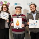 Chabad of Tidewater: Karen Smith, Rabbi Aron Margolin, and Rabbi Levi Brashevitzky.