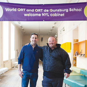 Andrew Nusbaum and Eric Miller at the World ORT de Gunberg Secondary School in St. Petersburg.
