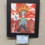 Art display of winners, Adrianna Bievre, Honorable Mention, Junior
