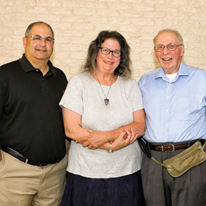 Chad Bornstein, president, Beth Chaverim; Ellen Jaffe-Gill, rabbi, Tidewater Chavurah; Dr. William E. Feldman, president, Tidewater Chavurah.