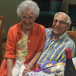Betty Hecht and Bob Liverman.