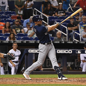Mark Brown/Getty Images Ryan Braun bats for the Milwaukee Brewers in a game against the Miami Marlins in Miami, Sept. 9, 2019. He became the all-time Jewish home run leader this season.