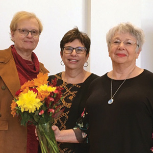 Dorothy Salomonsky, director of Personal Affairs Management, Jody Laibstain, volunteer coordinator, and Bonnie Lindenberg, Volunteer of the Year..