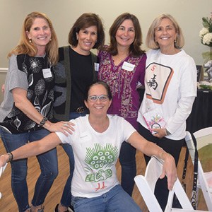Dana Fink, Marcy Rosen, Ann Abraham, Stephanie Calliott, and Amy Levy