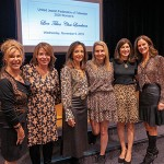 Charlene Cohen, Betty Ann Levin, United Jewish Federation Tidewater executive vice president, Shelly Simon, Emily Nied, Renee Strelitz, and Jodi Klebanoff, UJFT Campaign chair.