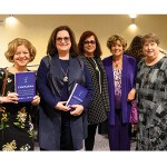Sara Jo Rubin, Judy Rosenblatt, Ellen Wagner, Shelly Loeb, and Barbara Dudley, Women's Cabinet vice chair.