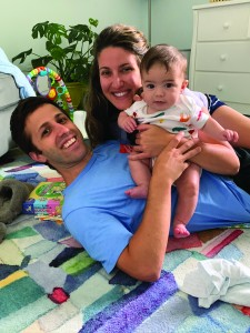 David Calliott, wife Alex and baby Luca